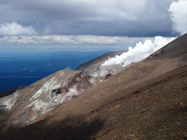 Not only the people are alive here: So is Mount Tongariro, emitting volcanic gases as we speak – sign of another nearing eruption?