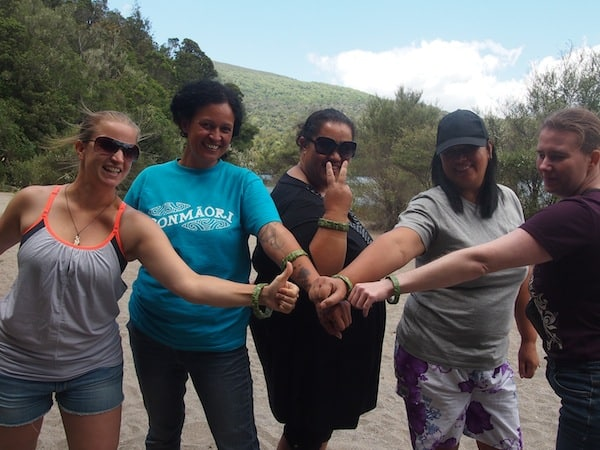 ... in no time, the girls are ready complete with new bracelets to show off !!!