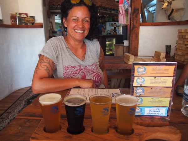 "Ngahuia and I love ordering one of those ""craft beer tastings"" for me, as seen at the BIER KAFE around town!"