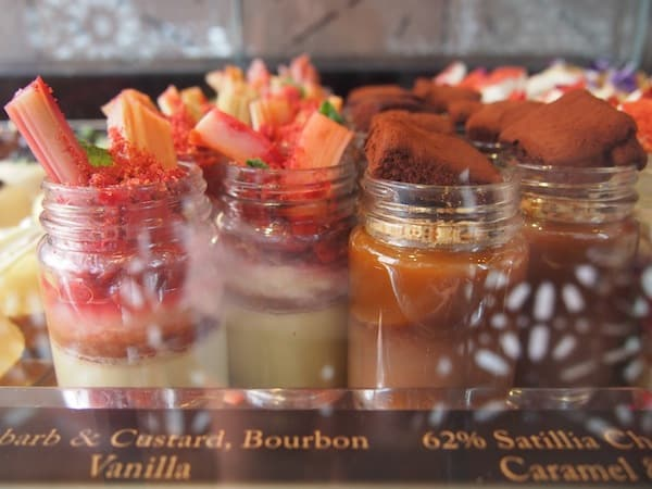 "… we ""start with dessert"", and what a dessert at that: Mouth-watering, succulent creations at a place called Milse Patisserie, with sweet little delicacies such as Rhubarb & Custard Bourbon Vanilla Verrine as well as Caramelised White Chocolate Blueberry Lemon Praline Tart."
