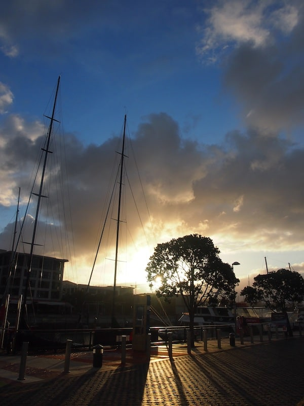 Nor does the magic, as I capture the evening light of the setting sun at Auckland Harbour on this summer's day.