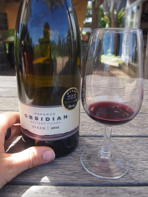 Love the taste of this 2012 Syrah: There goes a happy #winelover visitor!