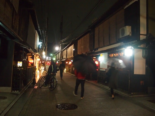 … and further into the nearby Geisha district.