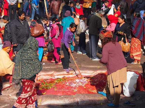 The holy Hindu festival on the outskirts of Kathmandu in Nepal ...