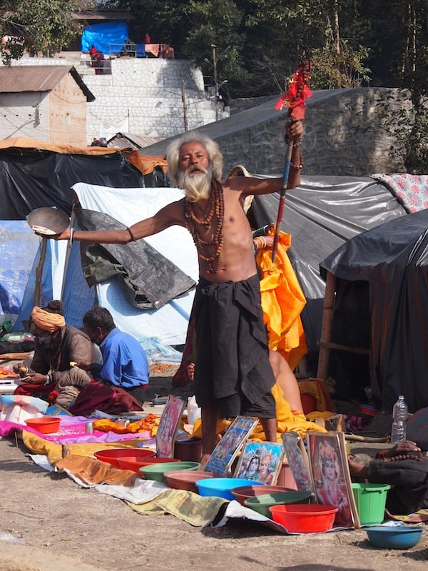 "... including my first ever sight of a ""real baba"", a chosen spiritual nomad living a life of meditation and spiritual belief."