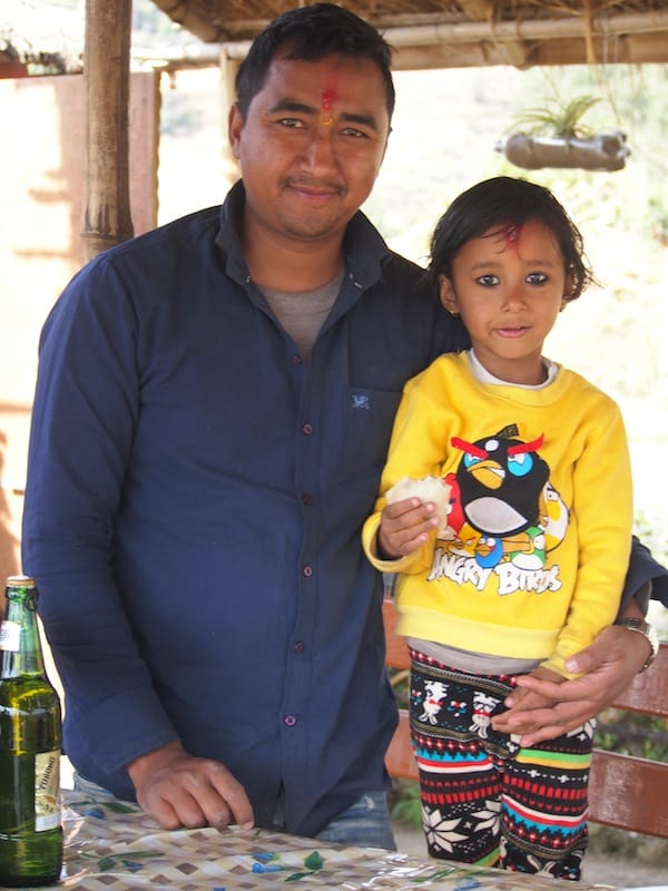 Part of my young friend Rubi's extended Nepali family ...