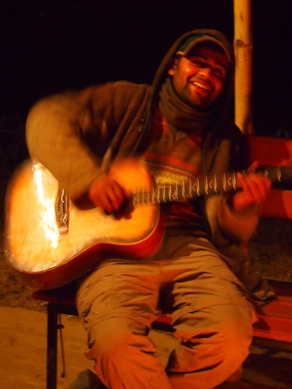Thank you, dear Ujjwal, for such good late evening vibes playing typical Nepali songs at your farm!
