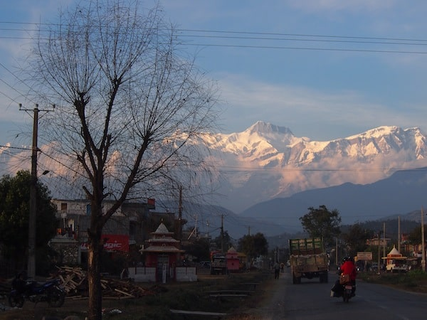 "Driving into Pokhara, the ""City of Seven Lakes"" ..."