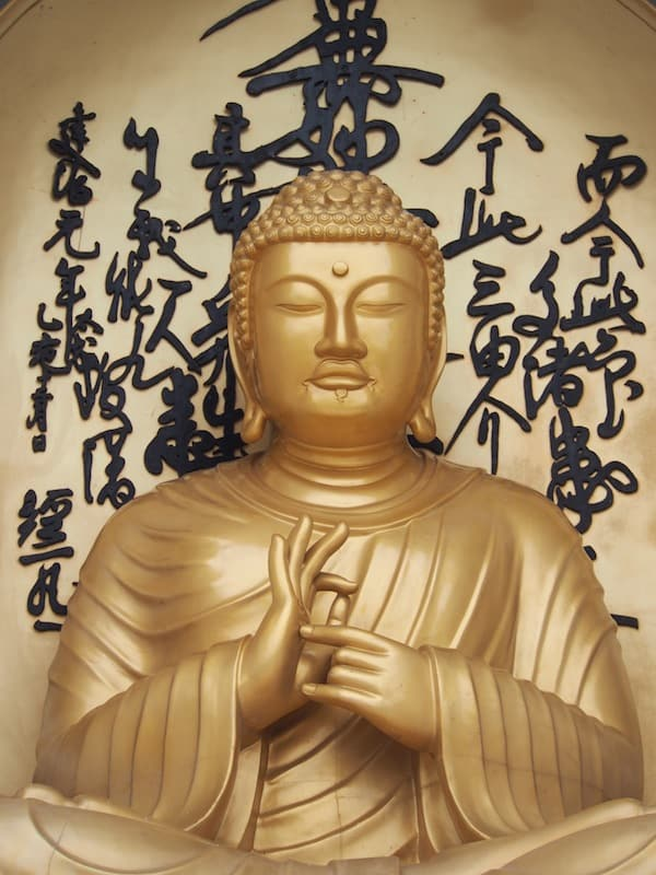 The local Buddha statue of the World Peace Pagoda has a naturally tranquilizing effect upon visitors who come here to pray, meditate and reflect.