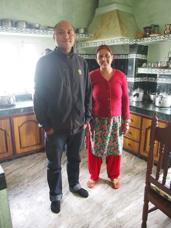 Family love: Rakesh' sister welcomes us into her home on the outskirts of Pokhara city, complete with insisting on cooking for us and ...