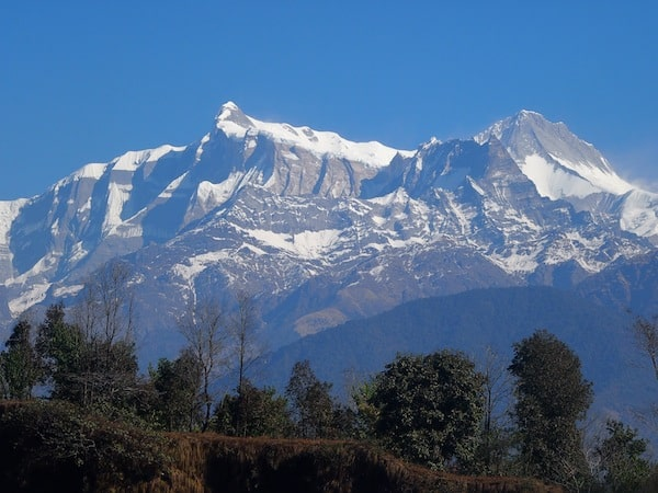 We have come out of Pokhara to being greeted by stunning mountain vistas such as these.