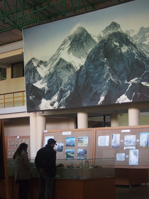 ... where all facts & figures about the Himalayas mountain climate, climate change, mountain people, local culture & belief as well as a history of climbing is explained. Very interesting!