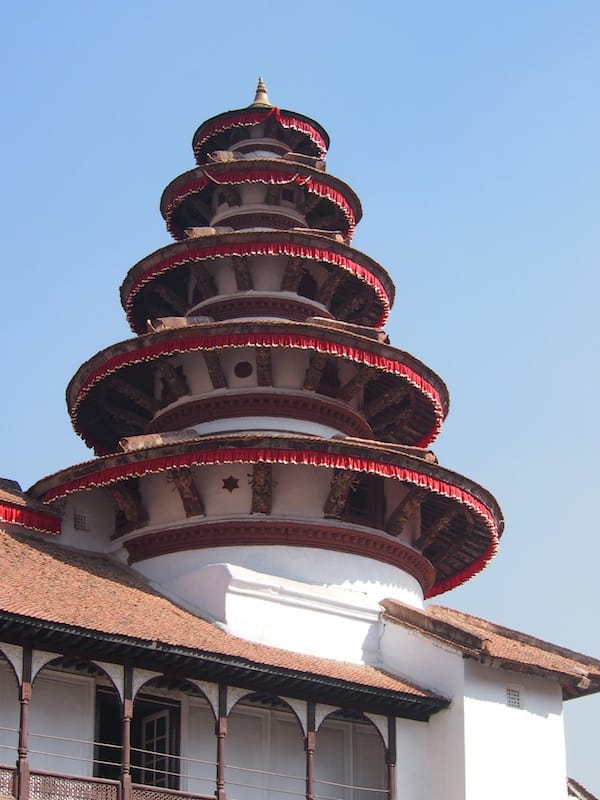 As well as the beautiful architecture of this World Heritage site in the middle of the old heritage city of Kathmandu.