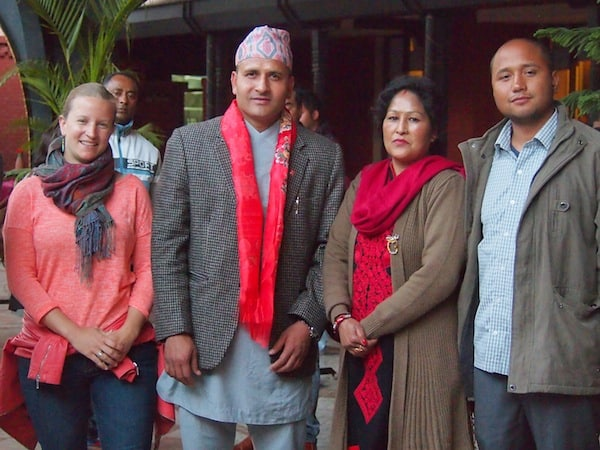 ... all the way to meeting Nepal's former athletics champion on his well-deserved road to retirement from the Olympic Games - an interesting honour and ceremony to watch!