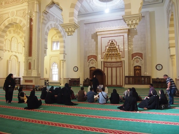 "... with the inside of the Mosque acting as a ""common room"" for cultural learning and understanding in this cosy, open-space environment."