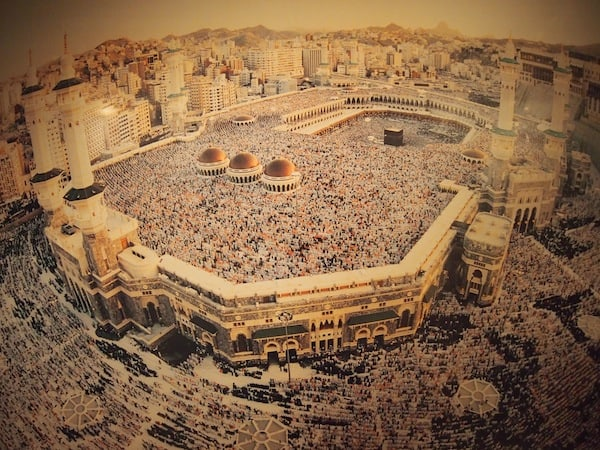 """This image of a Hadjj, the """"one-and-only"""" pilgrimage every Muslim should complete in his or her lifetime, gets to me. What an event it must be ...!"""