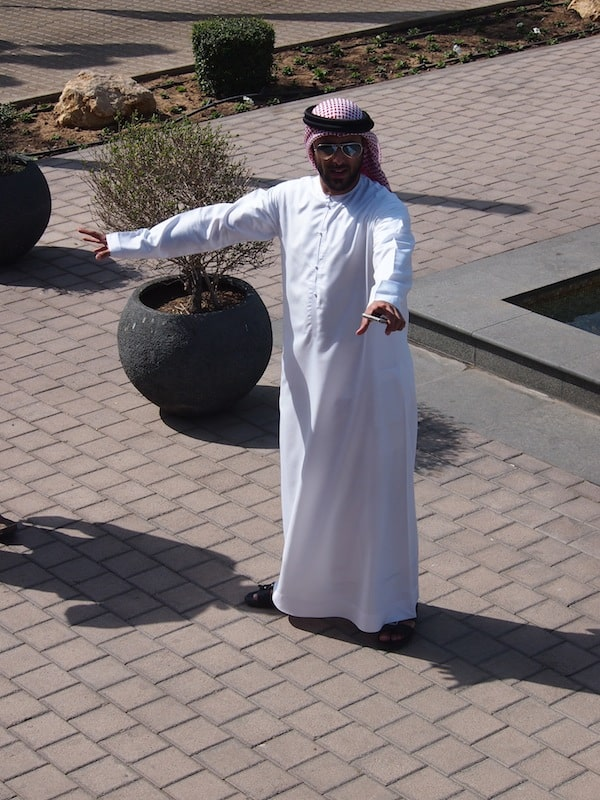Welcome to Sharjah: Majid, a happy and very enthusiastic member of the local Sharjah Tourism Authority, gives us a heartfelt welcome to his home.
