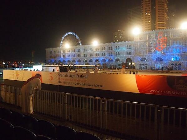 Waiting for the Sharjah Light Festival to start ...