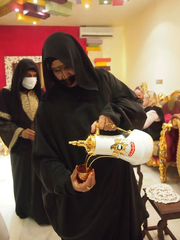 ... are a fusion of tradition & modernity, serving typical tea from those very beautiful, Emirate thermos!
