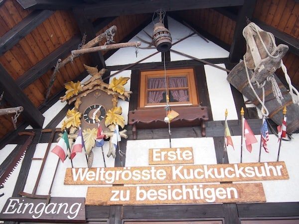 "... ""ends here"": At the world's largest cuckoo clock !!!"