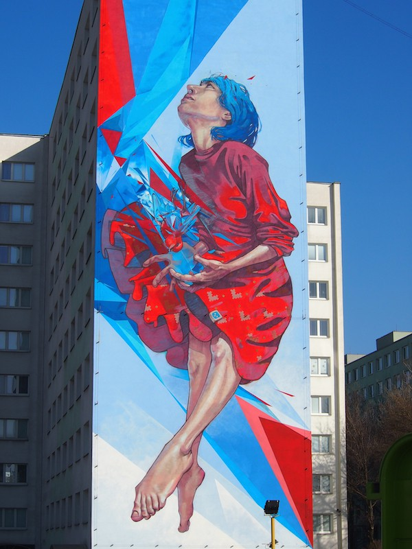 "At the same time, just around the corner, my eyes widen over this amazing ""piece"" of street art graffiti !!"