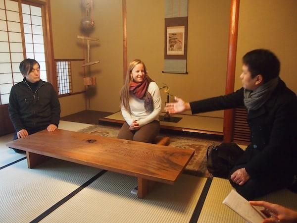 Welcome at Nakamura Takuo's tea house in Kanazawa ...