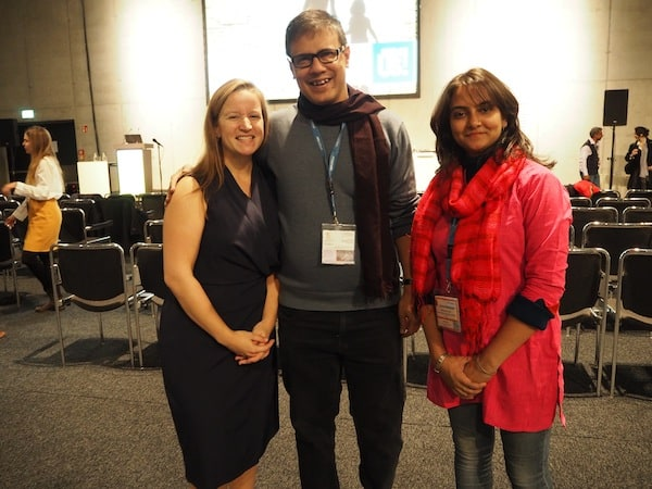 Happy for meeting such inspiring leaders: Amitava & Debalina at UNWTO panel discussion, ITB Berlin.