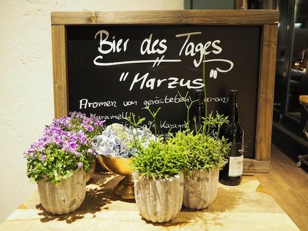 """... das """"Bier des Tages"""" im Restaurant Pechhütte ..."""