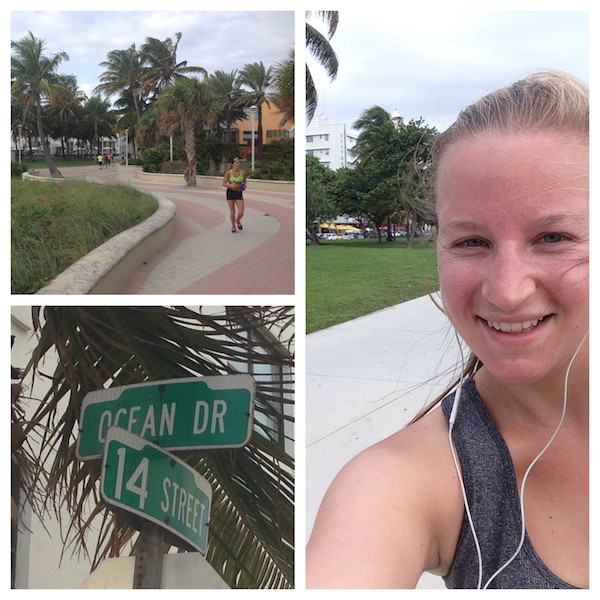 "... I am happy for having realized another ""jogging mission"" in this world: That of famous Ocean Drive, South Beach Miami! Especially on the day after my rather delicious, Miami Food Tour. :D"