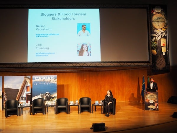 Jodi Ettenberg & Nelson Carvalheiro charmingly entering the stage at this year's #WFTS15 World Food Tourism Summit ...