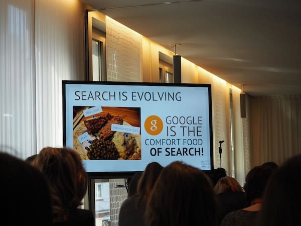 "If ""Google is the comfort food of search"" ..."