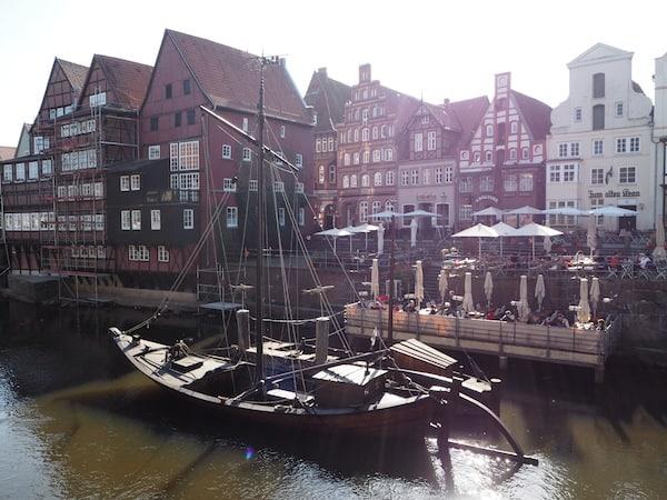 Arriving in beautiful Lüneburg ...