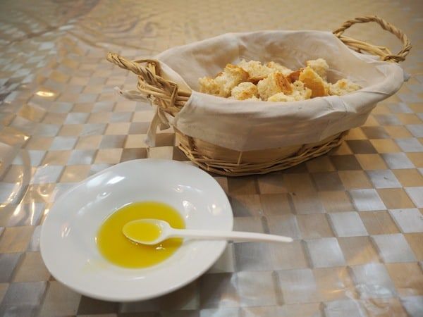 After our tasting of organic Spanish extra virgin olive oils ...