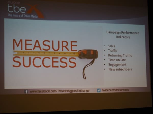 Measuring success, one of the key issues here at #TBEX Europe #InCostaBrava ...