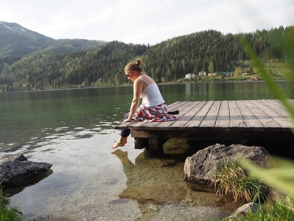 … das Wetter, die Füße in die (zugegebenermaßen eiskalten See!) zu stecken.