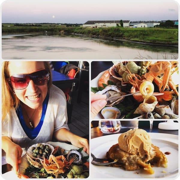 """… deren Verkostung ich mir nicht zweimal sagen lasse: Mahlzeit beim Top-Restaurant """"Coquillages & Crustacés"""" in La Rochelle !!"""