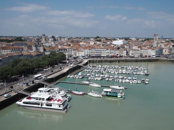 Angekommen in La Rochelle ...