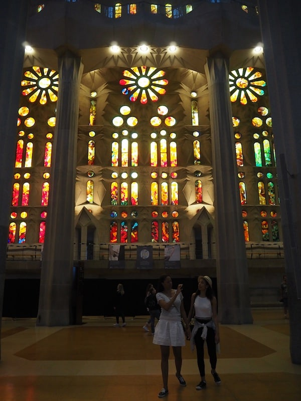 ... the coloured glass windows are easily my favourite in the whole of Sagrada Familia ...