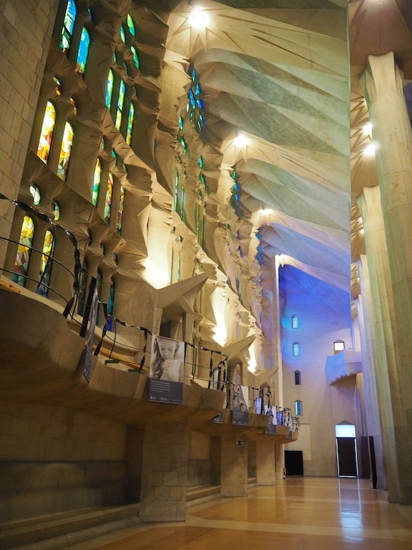 ... as are the light-flooded, interior spaces of Gaudí's masterpiece in general.