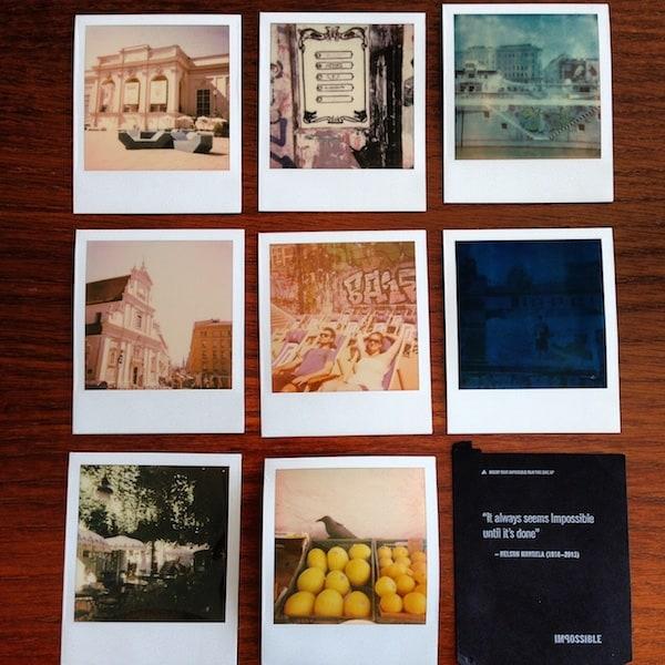 ... fertig ist das Werk: All meine acht Polaroids im Entwicklungsstadium!