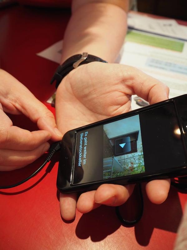 … ebenso die moderne Form der Besuchervermittlung im Stift Zwettl, welche per leicht zu bedienenden iPods geschieht ...