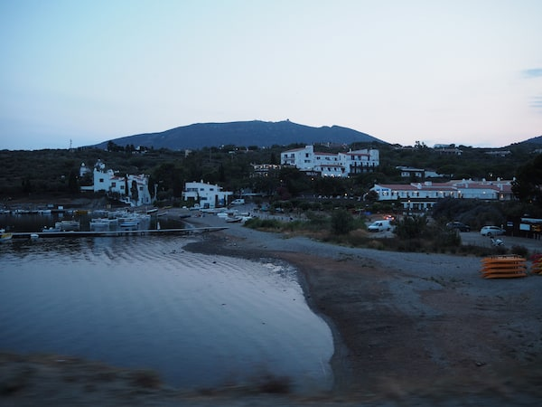 Evening time means quiet beaches such as this one near Cadaqués ...