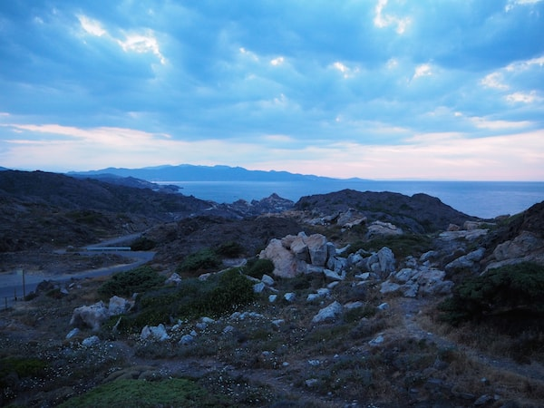 In the evening, do not miss the sunset views such as this one, taken from the eastern-most tip of Cap de Creus peninsula.