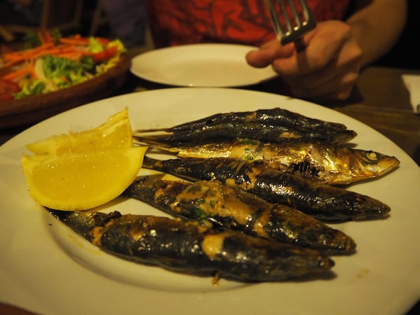 Fresh sardines served at the Cap de Creus lighthouse restaurant are my favourite!