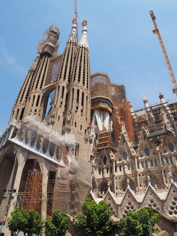 "Can't miss a visit to ""La Sagrada Familia"", can you? Here is a link to my recent exploration of it, following a unique mosaic workshop in the city of Gaudí!"