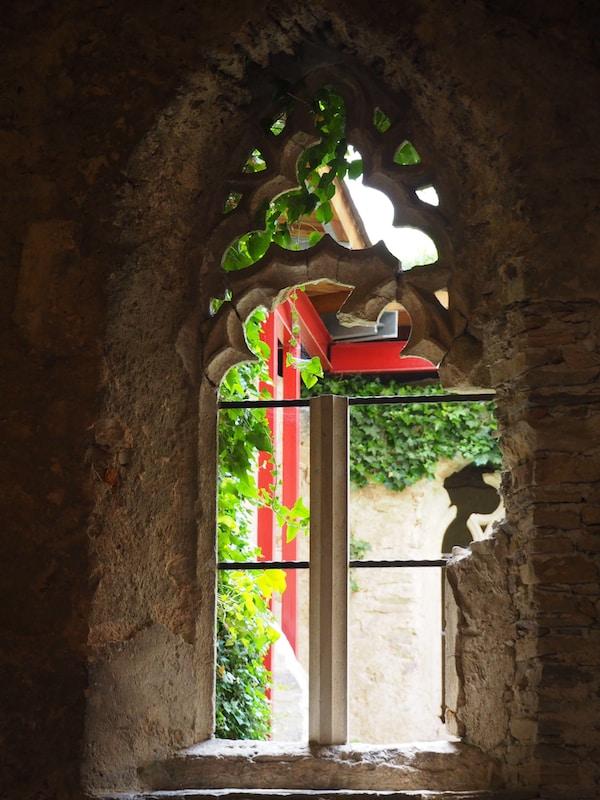 Lieblingsplatz im Stift Altenburg: Das schöne Fenster aus dem ehemaligen, historischen Kreuzgang des Stiftes hat es mir angetan.