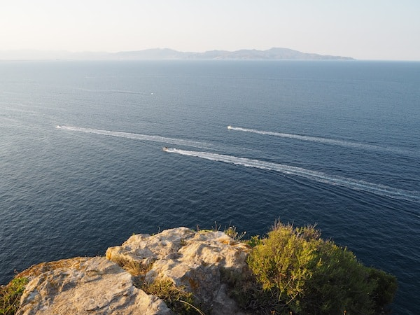 … with views travelling almost endlessly, stretching all the way across the Golf de Roses and Cap de Creus peninsula to the north, the north-eastern most point of the Iberian peninsula ...