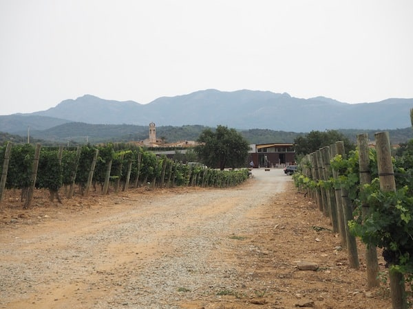"""La Vinyeta"" wine estate, at the foothills of the Pyrenees ..."