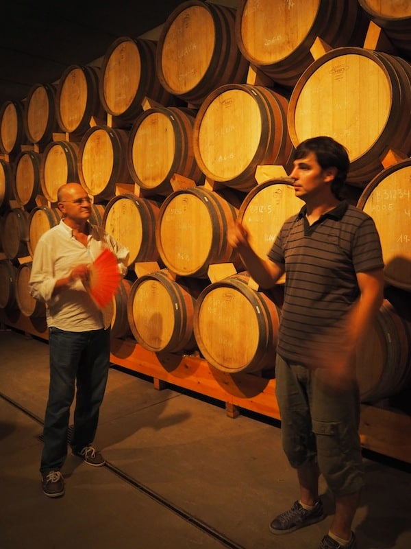 … or follow the wine grower Josep for a interesting tasting into the cellar ...