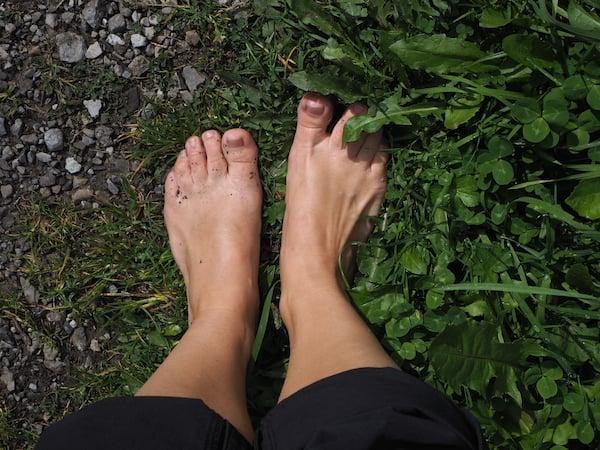 ... spätestens jetzt sind meine Füße jedenfalls richtig munter!